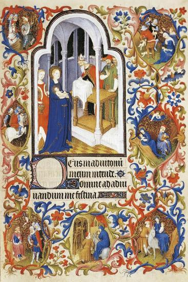 France, the Purification, Miniature from the Manuscript Breviary 469--Giclee Print