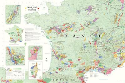 France Wine Map Poster