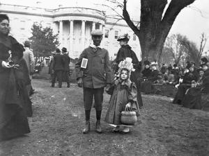 Children Holding Hands at White House Easter Egg Roll by Frances Benjamin Johnston