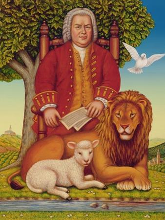 J.S. Bach's (1685-1750) Peaceable Kingdom, 2000 by Frances Broomfield