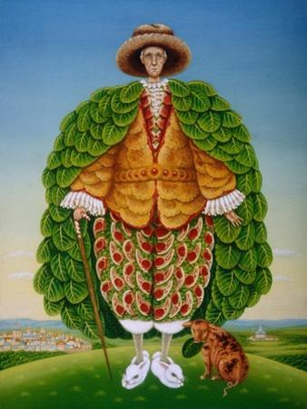 The New Vestments (Ivor Cutler as Character in Edward Lear Poem), 1994 by Frances Broomfield