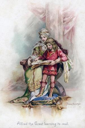 Alfred the Great Learning to Read, 1897