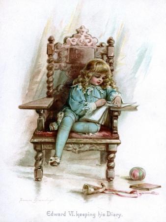 Edward VI, Keeping His Diary, 1897
