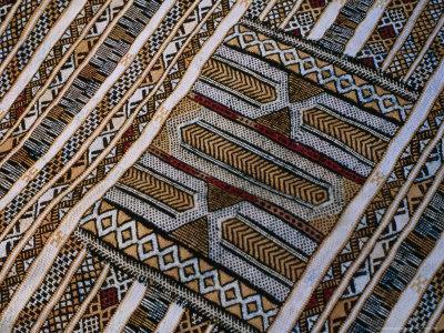 Geometric Designs on Berber Kilim, Morocco