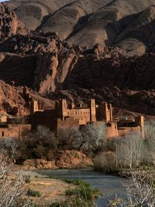 Kasbah in Gorges of Dades Valley, Dades Gorge, Morocco by Frances Linzee Gordon