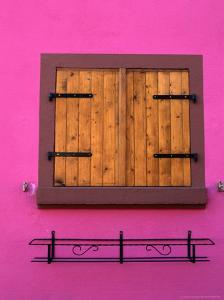 Window of Brightly Painted Alsatian House, France by Frances Linzee Gordon
