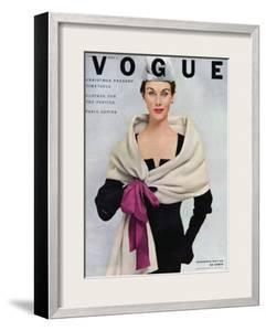 Vogue Cover - November 1952 by Frances Mclaughlin-Gill