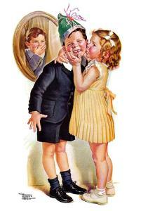 """Birthday Kiss,""March 5, 1938 by Frances Tipton Hunter"