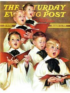 """Choir Boys Will Be Boys,"" Saturday Evening Post Cover, December 10, 1938 by Frances Tipton Hunter"