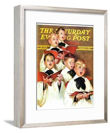 """Choir Boys Will Be Boys,"" Saturday Evening Post Cover, December 10, 1938"