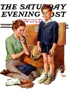 """""""Growing Boy,"""" Saturday Evening Post Cover, September 16, 1939 by Frances Tipton Hunter"""