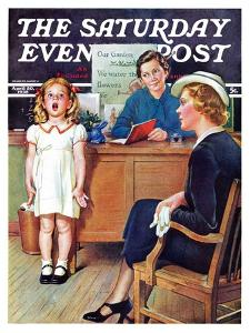 """""""In Front of the The Class,"""" Saturday Evening Post Cover, April 30, 1938 by Frances Tipton Hunter"""