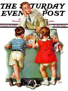 """""""Penny Candy,"""" Saturday Evening Post Cover, August 19, 1939 by Frances Tipton Hunter"""