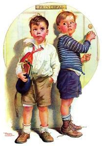 """School Fight,""September 12, 1936 by Frances Tipton Hunter"