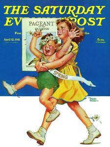 """""""Spring Pageant,"""" Saturday Evening Post Cover, April 12, 1941 by Frances Tipton Hunter"""
