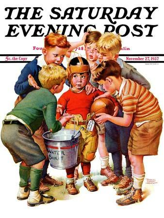 """""""You Can Be the Water Boy!,"""" Saturday Evening Post Cover, November 27, 1937"""