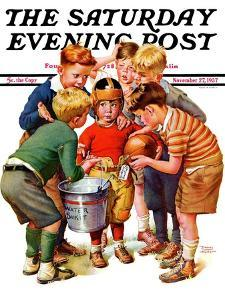 """""""You Can Be the Water Boy!,"""" Saturday Evening Post Cover, November 27, 1937 by Frances Tipton Hunter"""