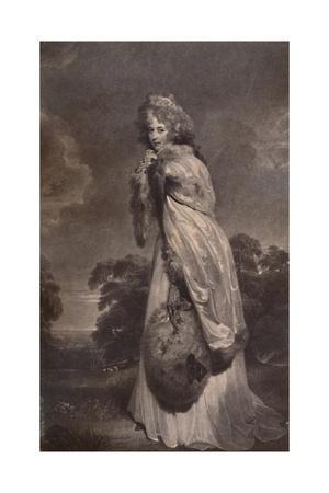 Miss Elizabeth Farren, afterwards Countess of Derby, c1792 (1894)