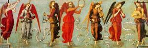 Angels Playing Musical Instruments, C.1475-97 by Francesco Botticini