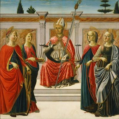 Saint Nicholas and Saints Catherine, Lucy, Margaret and Apollonia