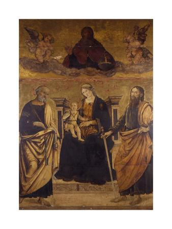 Madonna Enthroned with Child, St Peter and St Paul