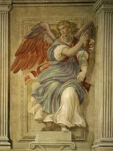 Angel Gabriel of the Annunciation, Fresco, Library by Francesco De Rossi Salviati Cecchino