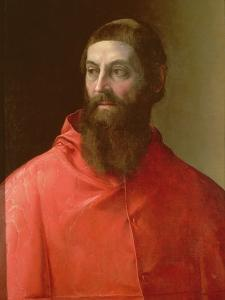 Cardinal Rudolfo Pio, Bishop of Faenza (C.1500-64), 1528 by Francesco De Rossi Salviati Cecchino