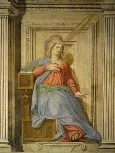 Madonna of the Annunciation, Fresco, Library by Francesco De Rossi Salviati Cecchino