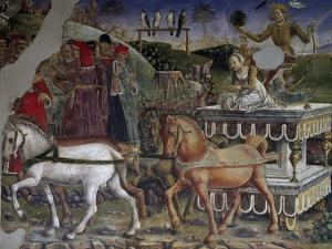 Apollo's Chariot Pulled by Horses and Driven by Aurora, Detail from Triumph of Apollo by Francesco del Cossa