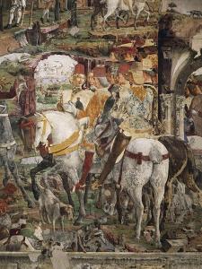Borso D'Este Departing for Hunt, Scene from Month of March, Ca 1470 by Francesco del Cossa
