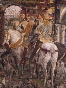 Borso D'Este Departing for Hunt, Scene from Month of March by Francesco del Cossa