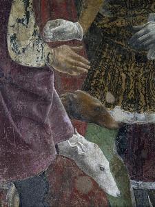 Borso D'Este Giving Coin to Court Jester, Scene from Month of April, Ca 1470 by Francesco del Cossa