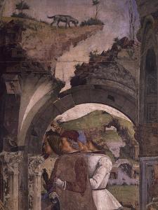 Borso D'Este Hunting Scene from Month of March, Circa 1470 by Francesco del Cossa