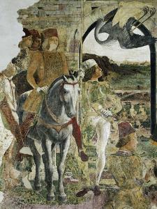 Borso D'Este Returning from Hunting, Scene from Month of April by Francesco del Cossa