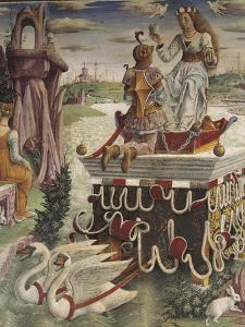 Chariot of Venus Drawn by Swans, Detail from Triumph of Venus, Scene from Month of April, Ca 1470 by Francesco del Cossa