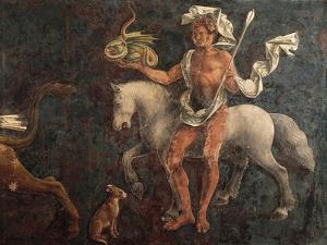 Dean, Detail from Sign of Taurus, Scene from Month of April by Francesco del Cossa