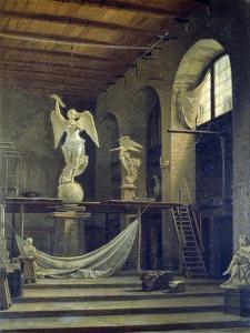 The Sculptor Caggiano's Studio with Statue of Victory by Francesco del Cossa