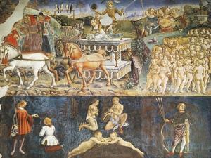 Triumph of Apollo and Sign of Gemini, Ca 1470 by Francesco del Cossa