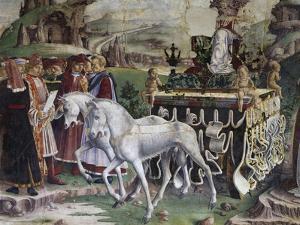 Triumph of Minerva, Scene from Month of March, Ca 1470 by Francesco del Cossa