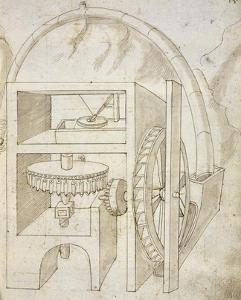 Folio 15: mill by Francesco di Giorgio Martini