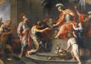 Liberality: Alexander the Great Rewarding His Captains by Francesco Fernandi