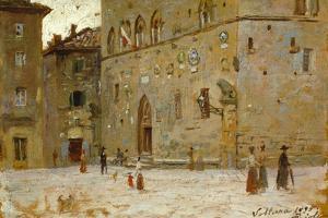 In Square in Volterra by Francesco Gioli