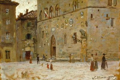 In Square in Volterra