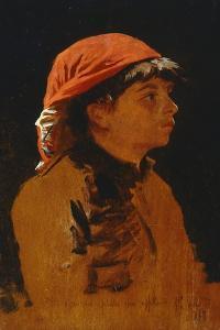 Red Scarf by Francesco Gioli