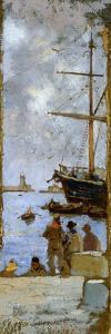 View of Port of Livorno by Francesco Gioli