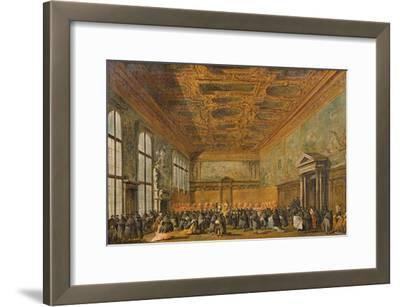 Audience Granted by the Doge of Venice in the College Room of Doge's Palace, C.1766-70