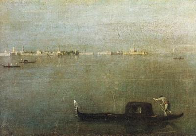 Gondola on Lagoon, Gray Lagoon C. 1765