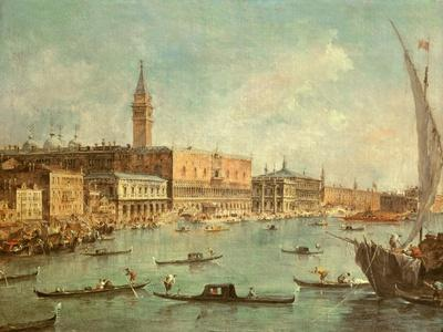 The Doge's Palace and the Molo from the Basin of San Marco, Venice, C.1770