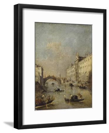 Venice or Rio Dei Mendicanti with Gondolas, 1780-99