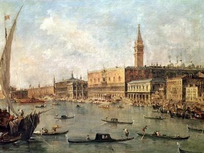 Venice: the Doge's Palace and the Molo from the Basin of San Marco, circa 1770